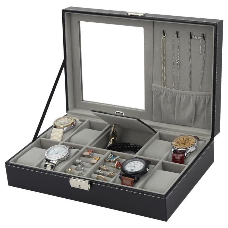 PU таблица / коробка с ювелирными изделиями 2 комплект 1 8 гр + 3 упаковочная коробка роскошное кольцо с декоративным кольцом