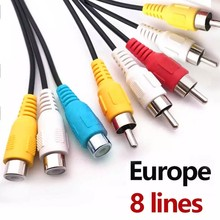 36M AV cable 8 lineas for Europe DVB-S2 Satellite GTmedia V8 Nova V7S V9 Freesat V7