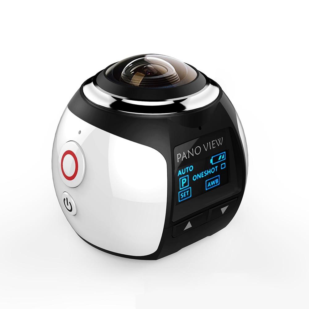 VR 4K Sports Camera 360 Degree Panoramic WIFI HD Anti-shake Waterproof Easy Operation Wide Angle Mini DV