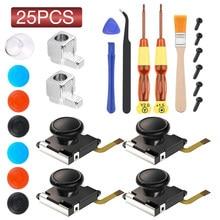 Joystick analógico 3D 25 en 1, piezas de repuesto, resistente al desgaste, Kit de reparación del controlador para Nintendo Switch Lite Joy Con 3D