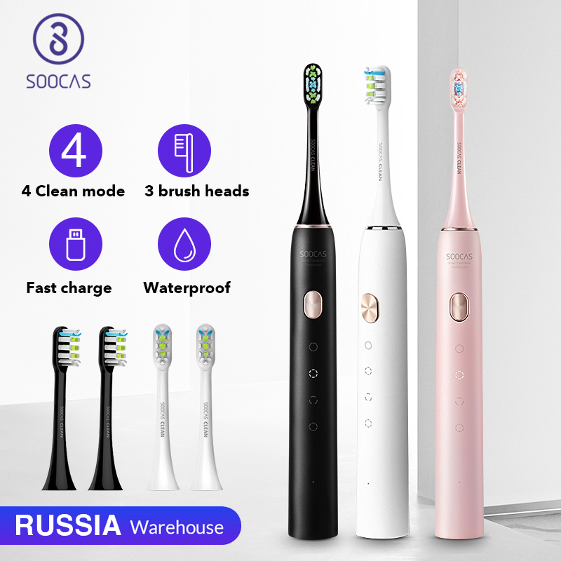 SOOCAS X3U Sonic Toothbrush Electric Tooth Brush for Xiaomi Mijia Ultrasonic Automatic Upgraded Fast chargeable Adult Waterproof(China)