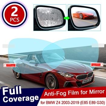 Film de protection Anti-éblouissement | Pour BMW Z4 2003 ~ 2019 E85 E89 G30, Film de protection pour rétroviseur de voiture, étanche à la pluie, autocollant de voiture 2018