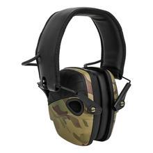 طوي متعددة حدبة التمويه التكتيكية الحد من الضوضاء سماعات الرياضة في الهواء الطلق واقية للأذنين الإلكترونية التكتيكية سماعة