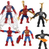 6 teile/satz Verkauf Bausteine Super Heroes Ziegel Spinne Mann Weit Von Fakten Für Kinder Sammlung Spielzeug X-806