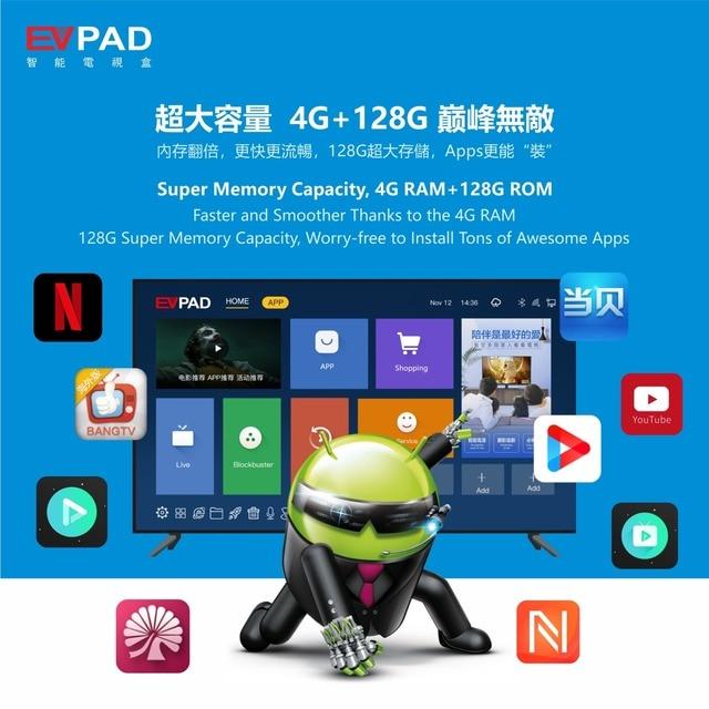[Genuine]2021 EV tvbox evbox 5max 4G+128G EVAI voice control smart 6k android for UK Korea Japan SG HK CA AU Chinese Europe 4