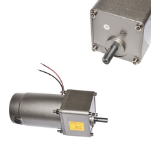 цена на 12V 24V 10-600RPM Big Torque & High Speed DC Electric Gearbox Permanent Magnet Motor DM09-5GN 100W High Torque DC Gear Motor