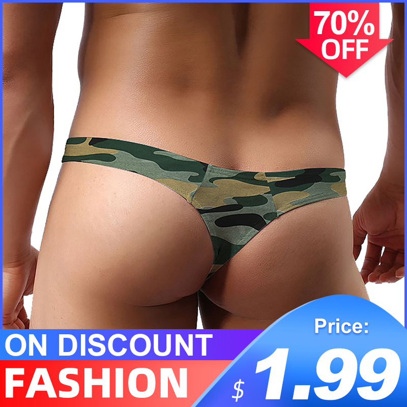 Sissy Panties String Men Lingerie Jockstrap Mens Thongs And G Strings Free Ship Sexy Gay Underwear Men Thong Mesh Camouflage
