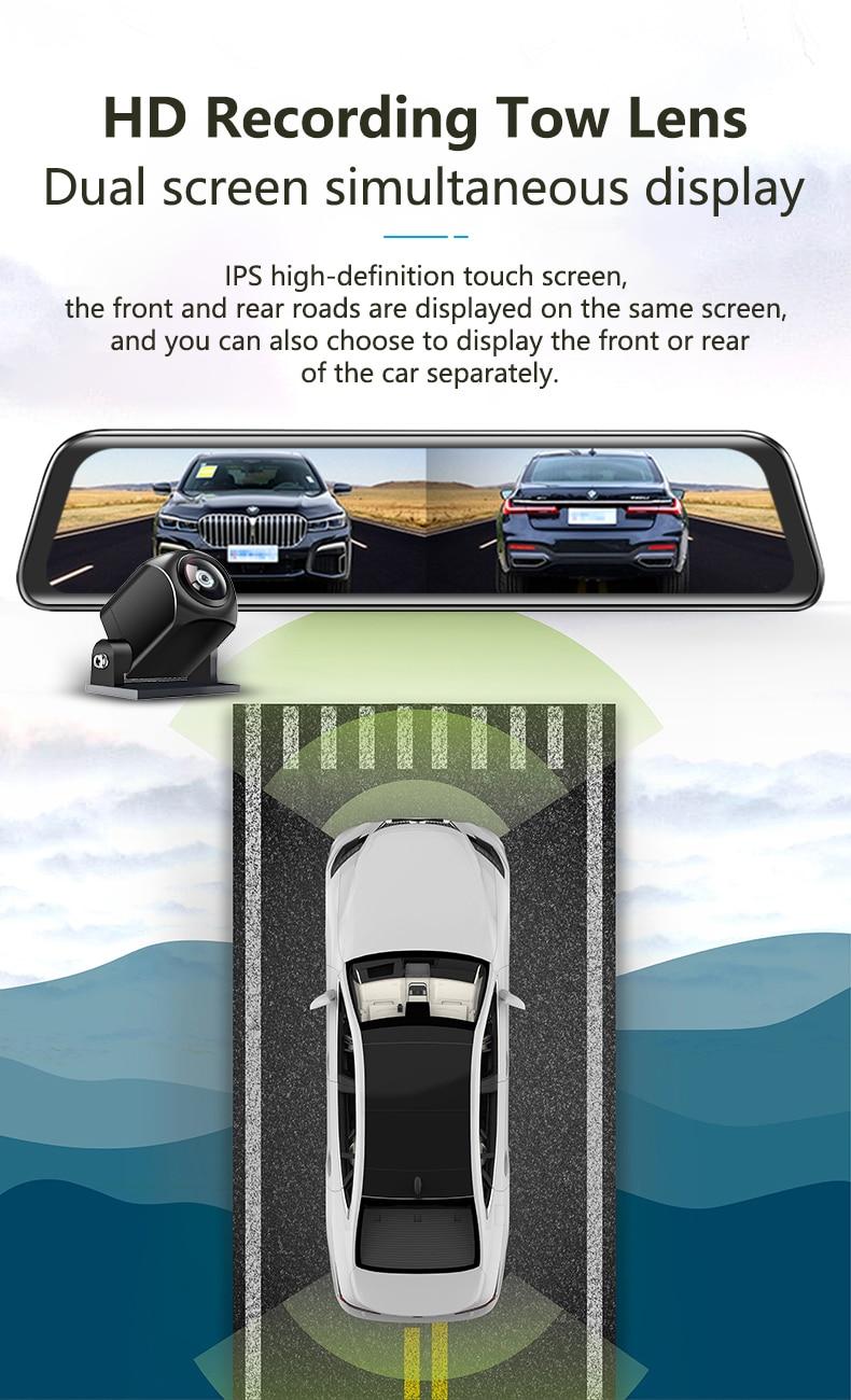 H1b7266b09f9b441a83f1dc3a1b9b27779 - 12インチ バックミラー カー DVR カメラ GPS FHD デュアル1080Pレンズ 駐車24時間モーション検知