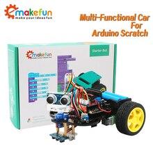 Intelligente Robot Auto Starter Kit per Arduino R3 con Tutorial, Supporto iOS/Android, Ps2, wiFi Controllo IR per Arduino Kit Fai Da Te