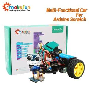 Image 1 - חכם רובוט רכב Starter Kit לarduino R3 עם הדרכה, תמיכת iOS/אנדרואיד, Ps2, wiFi IR בקרת לarduino Diy קיט