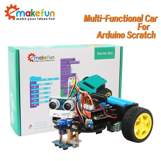 חכם רובוט רכב Starter Kit לarduino R3 עם הדרכה, תמיכת iOS/אנדרואיד, Ps2, wiFi IR בקרת לarduino Diy קיט