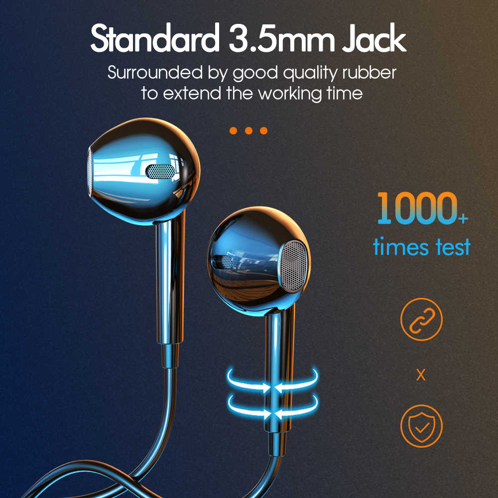 Ipsky 3.5Mm Jack Oortelefoon Voor Iphone Xiaomi Huawei MP3 Speler Universele Hadphones Wired Controle Met Microfoon Mobiele Telefoon Headset