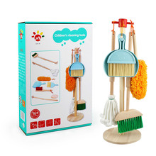 Children's Cleaning Toy Set Simulation Children's Mini Broom Dustpan Mop Cleaning Tool Combination Doing Housework Toy For Kids