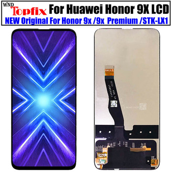 100% Tested For Huawei Honor 9X LCD Display Touch Screen Digitizer Assembly Frame for Honor 9X lcd STK-LX1 Display фото