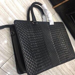 Image 2 - New pattern Mens business bag handbag Shoulder bag Business affairs Luxury Design Computer package Genuine leather Cowhide