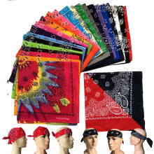 New Cotton Unisex Hip Hop Black Red Bandana Fashion Paisley Headwear Hair Band Neck Scarf Square Scarves Handkerchief