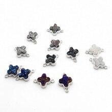 1PCS Natural druse geode Quartz Titanium Stone charm Pendant Double Bail DIY necklace for Women Jewelry