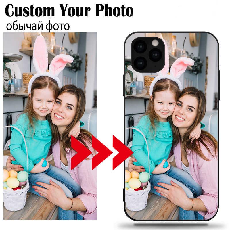 Özelleştirilmiş resim yumuşak özel telefon kılıfı için Samsung S8 S9 Galaxy S10 E artı not 9 10 Pro M20 M30 m10 TPU siyah yumuşak kapak