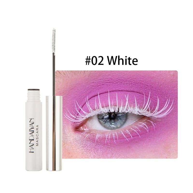 Цветная тушь водостойкие ресницы, Подкручивающая, удлиняющая, густой объем, макияж, ресницы для глаз, быстро сохнут, стойкий макияж для красоты - Цвет: 2