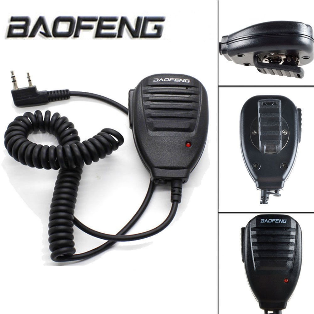 Baofeng 2 Pin BF-S112 Two Way Walkie Talkie Radio Handheld Speake Mic For UV-5R/888S/V2