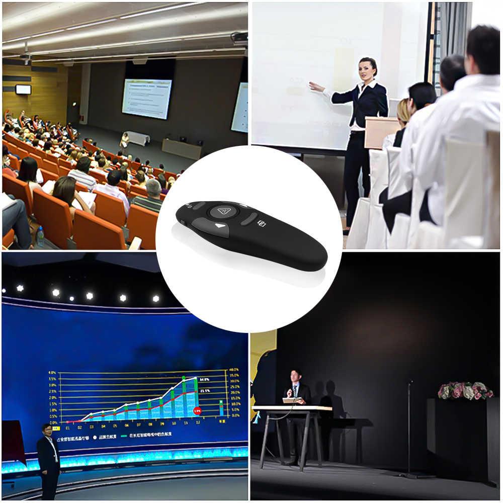 Kebidumei RF 2,4 ГГц USB беспроводной ведущий лазерная указка PPT пульт дистанционного управления для Powerpoint презентация обучение встречи лазер