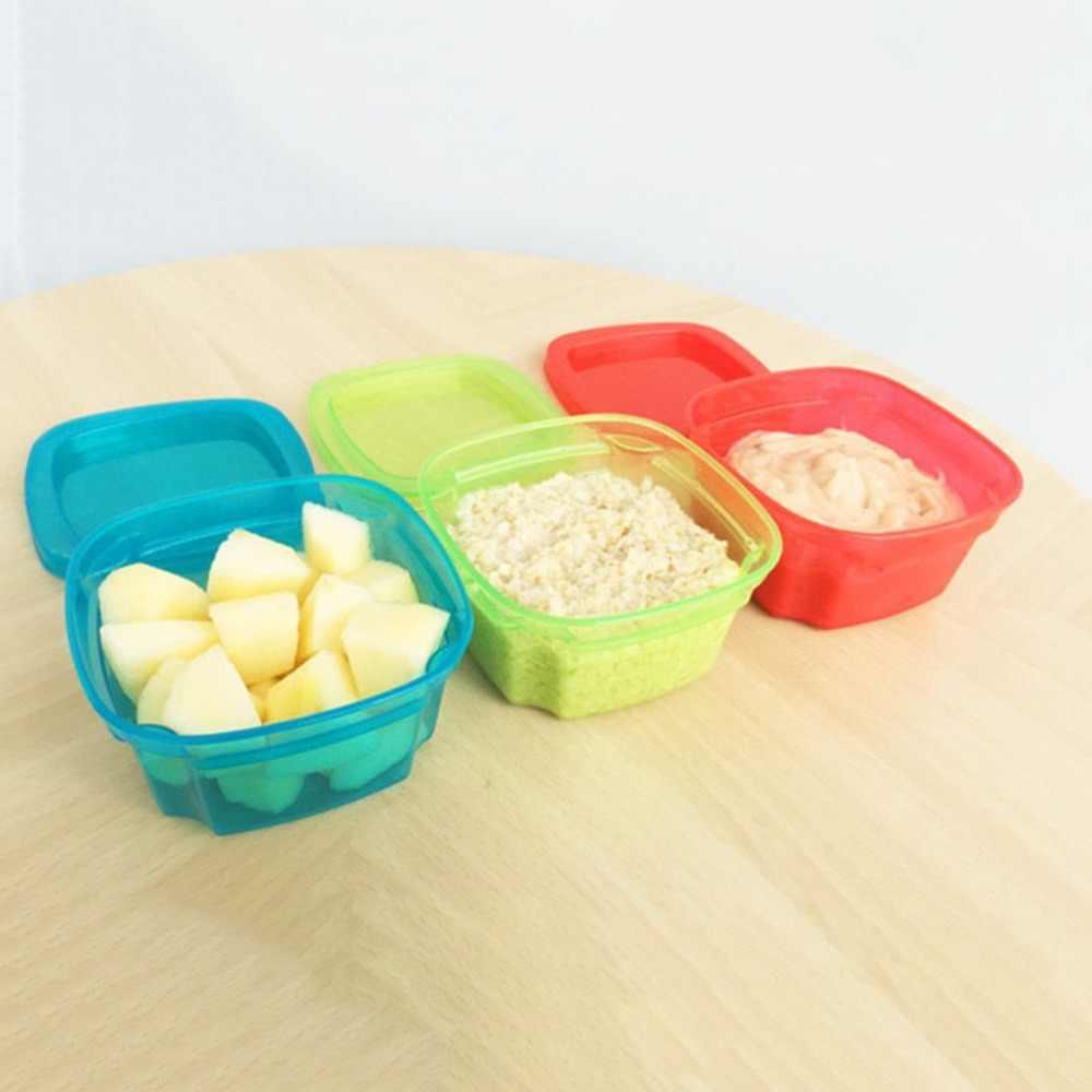 Cozinha Caixa de Vedação Alimentos Frescos-Manter Lanche Frutas Recipiente De Armazenamento Caixa de Caixa de Proteção PP Mini Pequeno Portátil Fresco Selado caixa