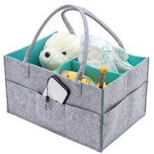 Felt cloth storage bag Baby Diaper Caddy Organizer Children Tote Bag Changing Table Portable Car Travel
