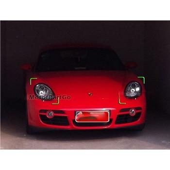 Real Crabon Fiber Head light Eyelid Eyebrow Cover Trim 1pair for  Porsche Boxter Cayman S 987 2005-2008  T146 1
