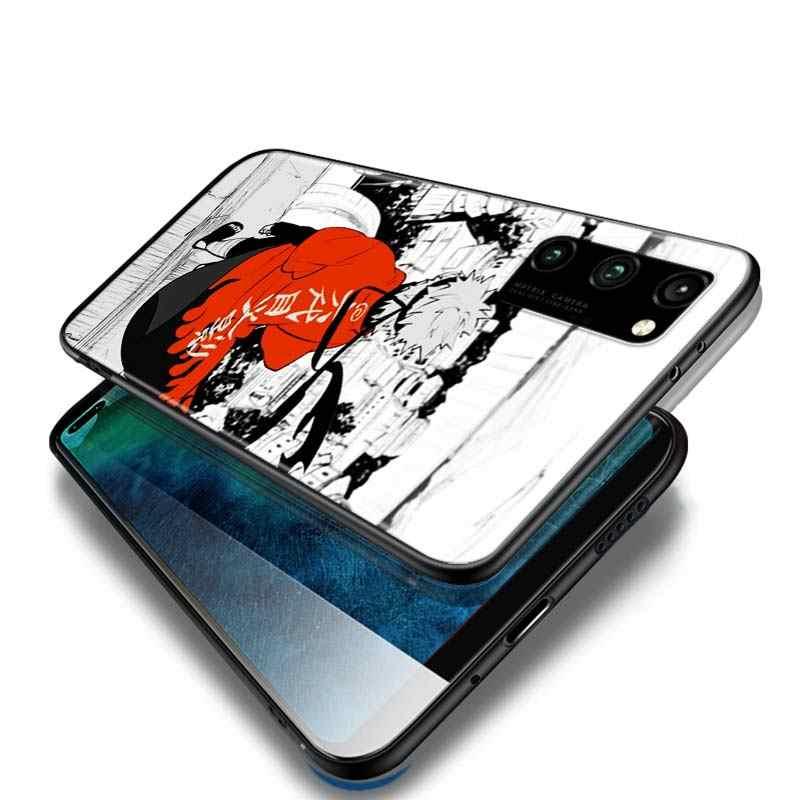 Karikatür Naruto Sasuke tarzı Huawei onur 9A 9C 9S 9X 10 9 Lite 30 20 Pro 10i 8X 8 8A 7A 7C Pro Lite siyah telefon kılıfı