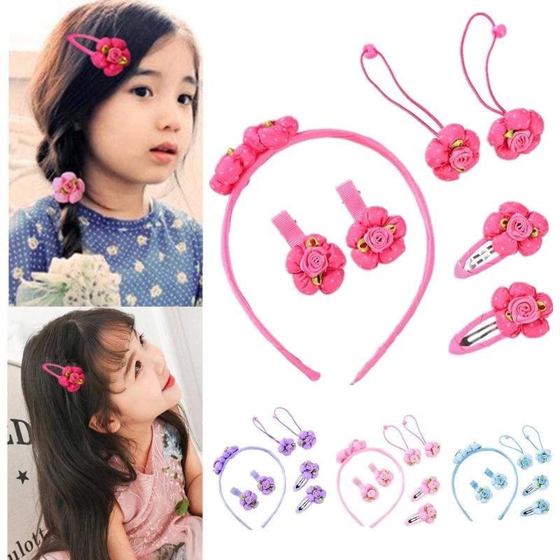 Accessories Kids Hairbands Princess Headdress Hair Clips Rubber Bands Hairpins