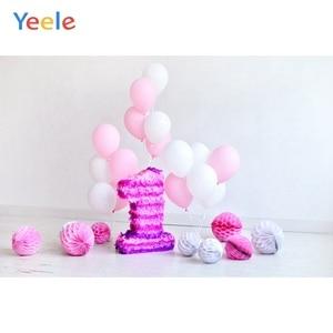 Image 2 - Yeele 1st Birthday Photozone Balloons Balls Cake Photography Backdrops Personalized Photographic Backgrounds For Photo Studio