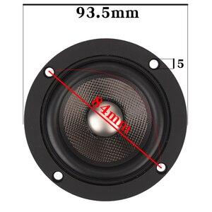 Image 2 - HIFIDIY لايف hifi 3.7 بوصة 93 مللي متر كامل التردد المتكلم وحدة 4 أوم 30 واط عالية ألتو باس مكبر الصوت P3 93 التيتانيوم ألياف الكربون