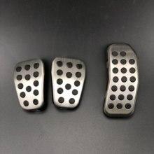 Auto styling Bremse Kupplung Accelerator Gas Pedal Pad Abdeckungen fall Für Ford Fiesta Ecosport Mazda 2 auto zubehör