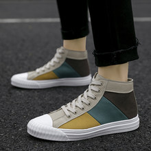Mix Color Manshoes High Top Sneakers Men Canvas Shoes Man New Slip Resistant Shoe High Quality Shoes for Men Trainers Shoes(China)