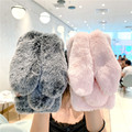 Cute Rabbit Ears Fur Plush Phone Case For A Sasmung Galaxy A12 Case A02 A02S A32 A42 A52 A72 A51 A71 A50 A70 A21S Xover 4 Covers