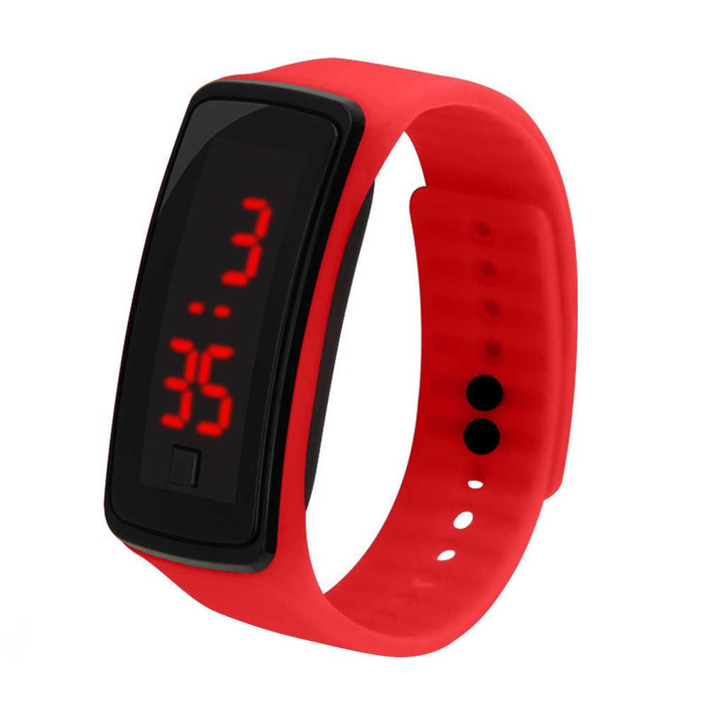 子供の子供のシリコーンバンド Led スクリーン電子デジタルスポーツ腕時計新シックな