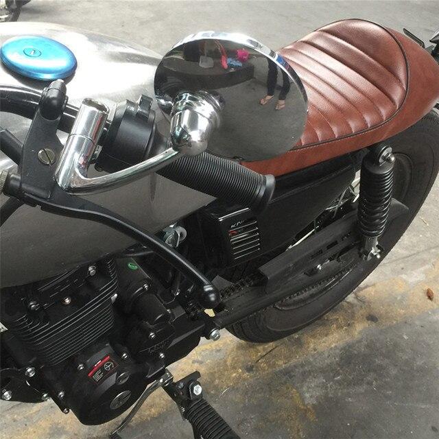 8/10mm uniwersalny lusterko wsteczne boczne motocykl lustro za pomocą śrub okrągłe Retro zmodyfikowany motocykl Cafe Racer widok z tyłu lusterka