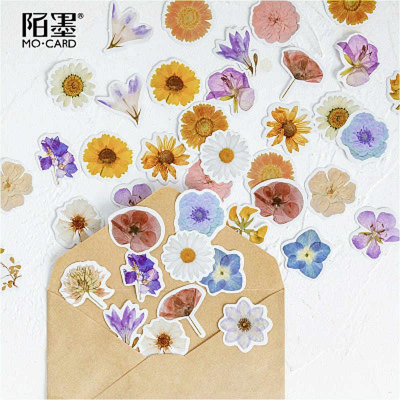 45 pièces briller fleurs devenir poèmes bloc-notes signet Note autocollante Kawaii posté planificateur papeterie fournitures scolaires autocollants en papier