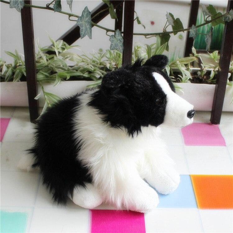 Millffy livraison directe frontière réaliste Collie chien en Peluche réaliste Animal en Peluche Peluche chiot poupée pour les enfants