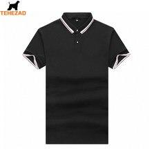 2021 verão puro cor pique algodão novo negócio casual camisa polo masculina de manga curta confortável respirável lapela camisa masculina