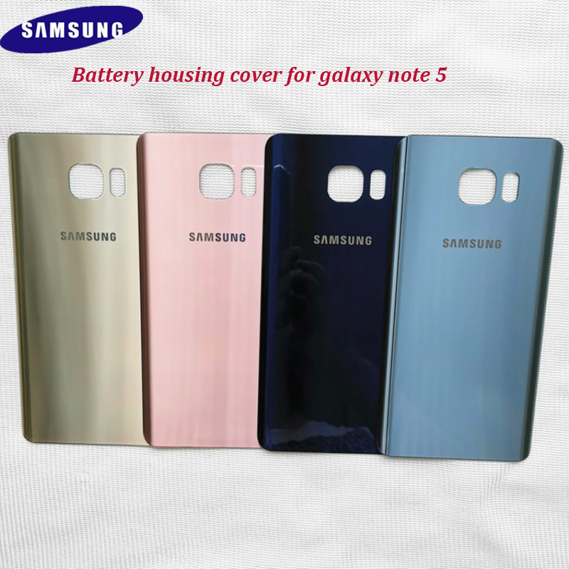 Samsung Note-5 Case Replacement-Cover Adhesive Glass Sticker Battery Real-Back-Door 3D title=
