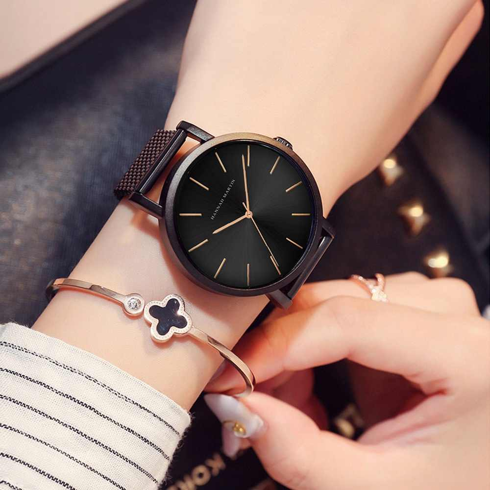 תנועה יפנית אופנה עלה זהב רשת להקת צמיד נשים שעון יד יוקרה גבירותיי שעון Relogio Feminino זרוק חינם