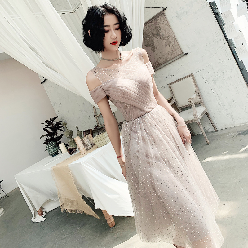 Daminha Gengli Dress Skirt 2020 New Temperament In The High-end Party Long Sequins Dust Little At Ordinary Times To Wear Female