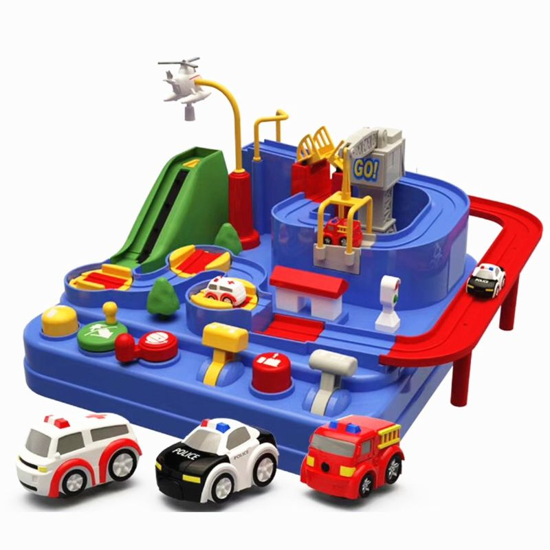 3pcs/set Mini Pull Back Car Toys-Smart Wheels Park And Learn Deluxe Garage Toy Accessories