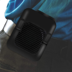 Image 5 - Поясной вентилятор, портативный Handsfree USB вентилятор, мини носимый клип на вентилятор, сильный ветер, 3600MAH аккумуляторная батарея для кемпинга, рыбалки, Cyc