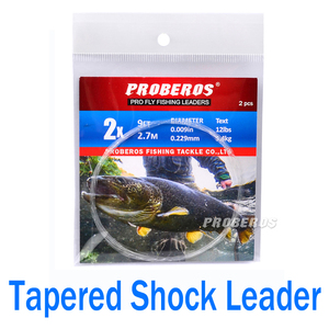 Tapered Shock Leader Tippet 2.7M/ 9FT 0X-6X Fly Fishing Line Nylon Sub-wire Variable Diameter Sub-line Fishline Pesca FD201