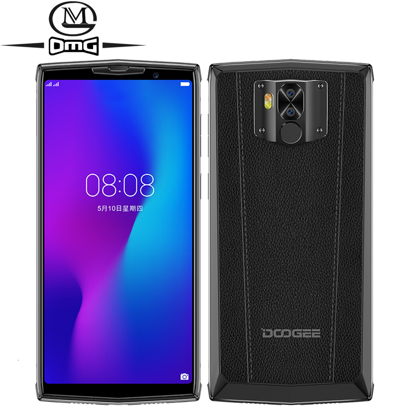 DOOGEE N100 NFC 10000mAh Android 9.0 téléphone portable 4GB + 64GB 5.99 ''FHD + écran Helio P23 MT6763 Octa Core 21MP 4G Smartphone