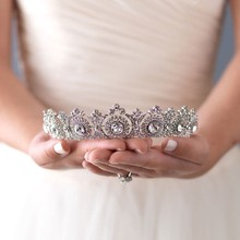 Woman Bride Crown Crystal Tiaras Rhinestone Wedding Crown Bridal Hair Accessory Elegant Princess Diadem for Birthday Festival(China)