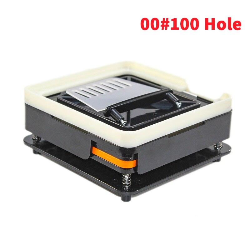 Placa da cápsula 0 #00 # nova marca abs preto tomada 100 buraco cápsula máquina de enchimento filling cápsula concha carregador