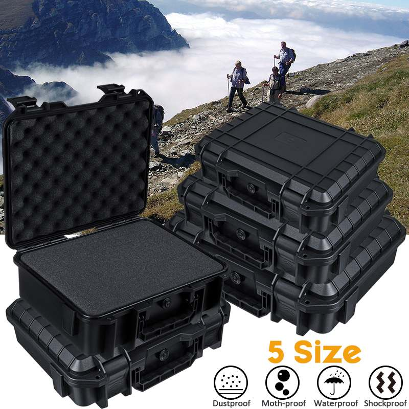Portable Shockproof Instrument Tool Box Tools Case Safety Protection Equipment Instrument Case Outdoor Box with Pre-cut Foam